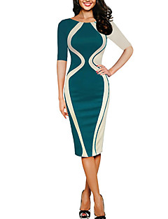 cheap Women's Fashion & Clothing-Women's Cotton Slim Bodycon Dress - Solid Colored
