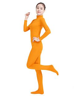 billige Zentai-Zentai Drakter Mote Zentai Cosplay-kostymer Grønn Kongeblå Oransje Navyblå Gul Ensfarget Mote Zentai Lycra® Herre Dame Halloween Karneval