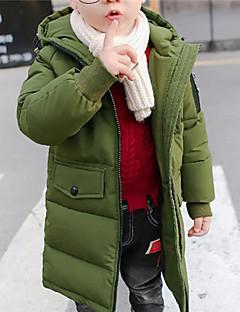 tanie Odzież dla chłopców-Odzież puchowa / pikowana Dla chłopców Jendolity kolor Długi rękaw Navy Blue Army Green