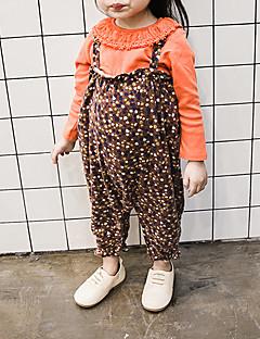 billige Bukser og leggings til piger-Pige Overall og jumpsuit Ensfarvet, Bomuld Bambus Fiber Spandex Forår Sødt Aktiv Brun Grøn