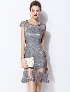 Χαμηλού Κόστους MARCOBOR-Γυναικεία Βασικό Εφαρμοστό Φόρεμα - Μονόχρωμο Πάνω από το Γόνατο