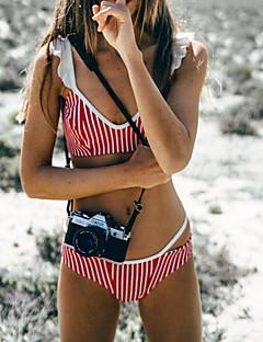 billige Bikinier og damemote 2017-Dame Bikinikjole - Drapering, Cheeky Stripet