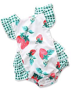 billige Babytøj-Baby Pige Trykt mønster Patchwork Uden ærmer En del