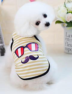 billiga Hundkläder-Hund Katt Små pälsdjur Husdjur Väst Hundkläder Randig Tecknat Gul Blå Rosa Bomull / Polyester Kostym För husdjur Herr Japansk och