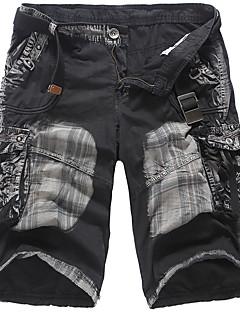 billige Herrebukser og -shorts-Herre Bomull Løstsittende Lastebukser Bukser Kamuflasje
