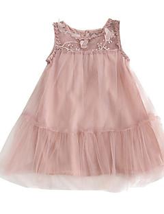 billige Babykjoler-baby pige solid farvet kjole, polyester sommer ærmerøs rødme pink 80 120 110 100 90