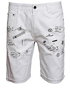 billige Herrebukser og -shorts-Herre Chinoiserie Jeans Bukser Galakse Fargeblokk
