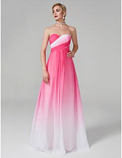 baratos Vestidos de Formatura-Linha A Decote Princesa Longo Chiffon Evento Formal Vestido com Cruzado de TS Couture®