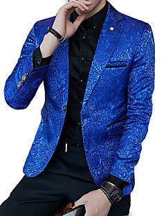 billige Herremote og klær-Blazer - Ensfarget Enkel Herre