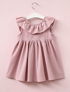billige Babykjoler-baby pige daglige solfarvet kjole, polyester sommer gade chic ærmeløs vin rødme pink 130 120 110 100 90