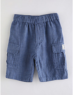 tanie Odzież dla chłopców-Jendolity kolor Dziewczyny Bawełna Lato Sukienka Podstawowy Niebieski