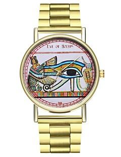 billige Modeure-Herre Dame Quartz Unik Creative Watch Modeur Japansk Kronograf Stor urskive Afslappet Ur Rustfrit stål Bånd camouflage Sej Guld