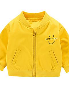 billige Babytøj-Baby Pige Geometrisk Langærmet Jakke og frakke
