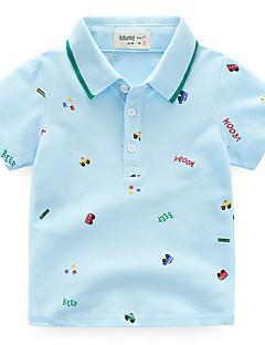tanie Odzież dla chłopców-Dla chłopców Codzienny Jendolity kolor T-shirt, Poliester Lato Krótki rękaw Urocza Light Blue