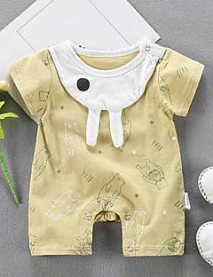 billige Babytøj-Baby Unisex Trykt mønster Kort Ærme En del