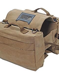 cheap Backpacks & Bags-Saddle bags Backpack Rucksack Dog Packs Hiking Beach Camping Travel Wearable Oxford Khaki