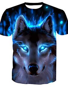 Χαμηλού Κόστους Πώληση-Ανδρικά T-shirt Βασικό Ζώο Στρογγυλή Λαιμόκοψη Στάμπα / Κοντομάνικο