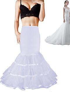 levne Svatební přehozy-Svatební Formální večer Spodničky Polyester Spandex Čínský nylon Organza Taft Tyl Na zem Po lýtka Tvarovací kombiné závoje s Nabírání
