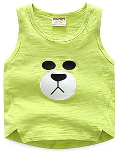 tanie Odzież dla dziewczynek-Dla obu płci Codzienny Urlop Nadruk Tanktop / koszulka na ramiączkach, Bawełna Poliester Lato Bez rękawów Urocza Clover Yellow