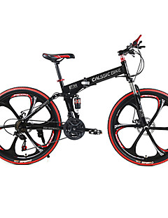 cheap Cycling-Mountain Bike / Folding Bike Cycling 21 Speed 26 Inch / 700CC SHIMANO TX30 Double Disc Brake Springer Fork Rear Suspension Ordinary / Standard Steel / #