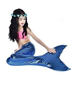 baratos Fantasias de Crianças-The Little Mermaid Bikini Roupa de Banho Crianças Dia Das Bruxas Carnaval Dia da Criança Festival / Celebração Trajes da Noite das Bruxas