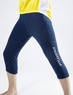 billige Sykkelklær-Jaggad Herre 3/4 sykkeltights Sykkel Fôrede shorts 3D Pute, Fort Tørring, Pustende Ensfarget Spandex Mørk Marineblå Sykkelklær
