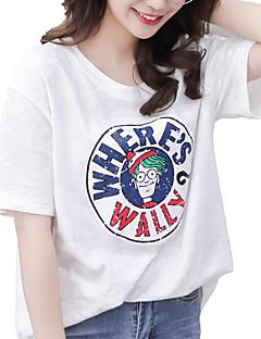 baratos Blusas Femininas-Mulheres Camiseta Moda de Rua Geométrica