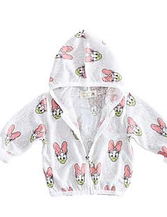 billige Overtøj til babyer-Baby Pige Trykt mønster Langærmet Jakke og frakke