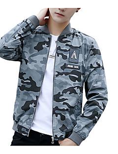 お買い得  メンズジャケット&コート-男性用 ジャケット カモフラージュ 特大の