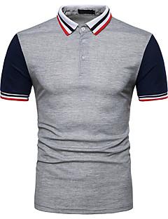 billige Herremote og klær-Polo Herre - Stripet Fargeblokk, Lapper Grunnleggende Gatemote