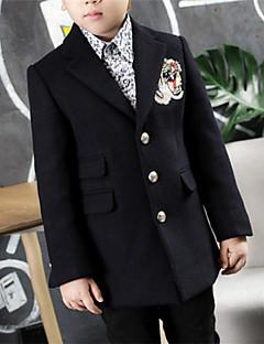 tanie Odzież dla chłopców-Kurtka / płaszcz Inne Dla chłopców Jendolity kolor Długi rękaw Black