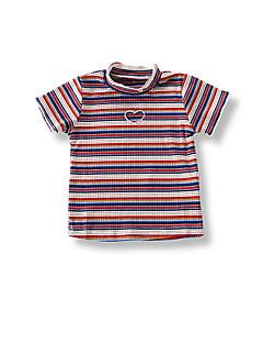 billige Babyoverdele-Baby Pige Stribet Kortærmet T-shirt