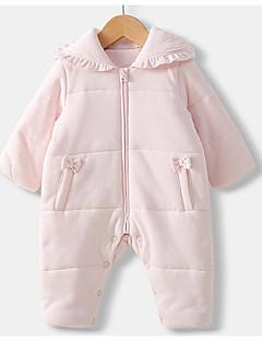 billige Babytøj-Baby Unisex Ensfarvet Langærmet Overall og jumpsuit