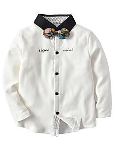 billige Overdele til drenge-Børn / Baby Drenge Farveblok / Patchwork Langærmet Skjorte