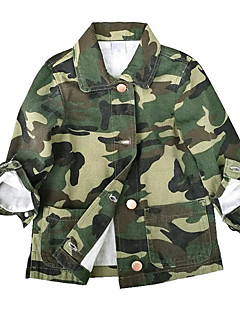 billige Jakker og frakker til drenge-Baby Pige Drenge Trykt mønster Langærmet Jakke og frakke