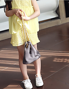 billige Pigetoppe-Børn Pige Ensfarvet Patchwork Uden ærmer Bluse