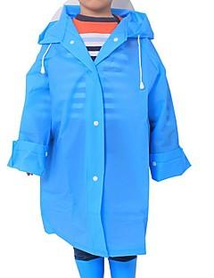 billige Jakker og frakker til piger-Børn Unisex Ensfarvet Langærmet Trenchcoat