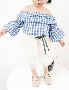 billige Babyoverdele-Baby Pige Geometrisk Langærmet Skjorte