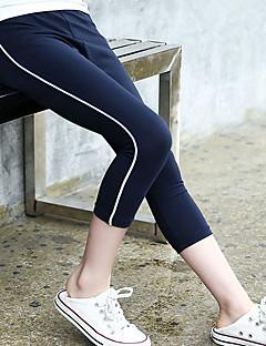 billige Bukser og leggings til piger-Børn Pige Ensfarvet / Stribet Leggings