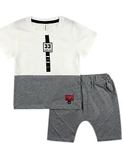 billige Tøjsæt til drenge-Børn / Baby Drenge Geometrisk / Farveblok Kortærmet Tøjsæt