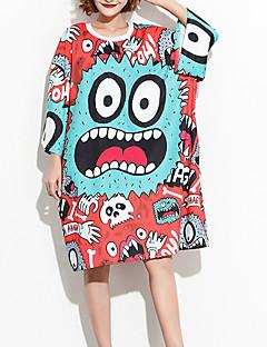 billige Damemode og tøj-Løstsiddende Dame - Geometrisk Bomuld T-shirt