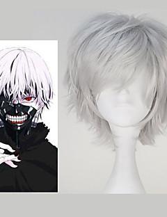cheap Anime Cosplay Wigs-Cosplay Wigs Tokyo Ghoul Ken Kaneki Anime Cosplay Wigs 32 CM Heat Resistant Fiber Men's