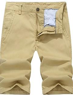 billige Herrebukser og -shorts-Herre Grunnleggende Bomull Chinos / Shorts Bukser Ensfarget / Helg