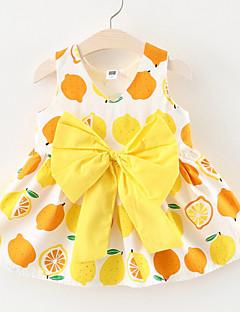 billige Babykjoler-Baby Pige Citron Frugt Uden ærmer Kjole