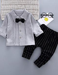 billige Tøjsæt til piger-Baby Unisex Ensfarvet / Stribet Langærmet Tøjsæt