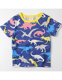 billige Pigetoppe-Børn Baby Pige Drenge Ensfarvet Trykt mønster Frugt Kortærmet T-shirt
