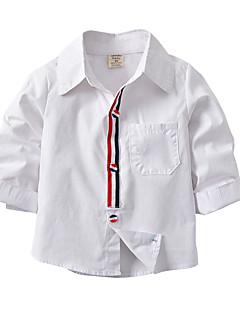 billige Overdele til drenge-Børn Baby Drenge Stribet Farveblok Langærmet Skjorte