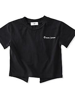 billige Babyoverdele-Baby Pige Ensfarvet Kortærmet T-shirt
