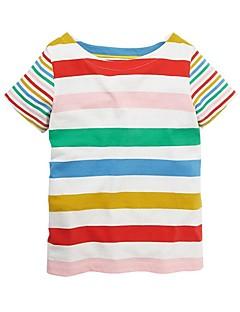 billige Pigetoppe-Børn Pige Stribet Kortærmet T-shirt