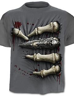 ieftine Maieu & Tricouri Bărbați-Bărbați Tricou Exagerat Șic Stradă - Bloc Culoare Cranii Imprimeu